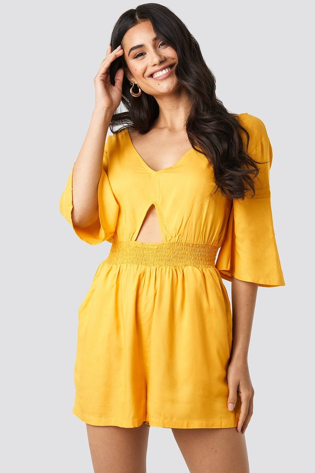 Cut Out Detail Playsuit Citrus