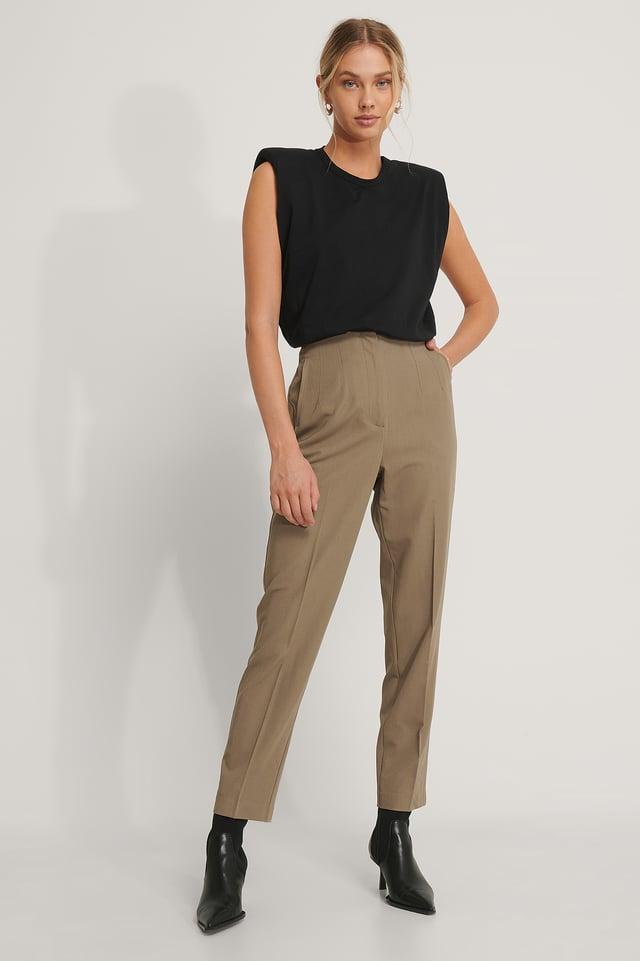 Mauve Darted Pants