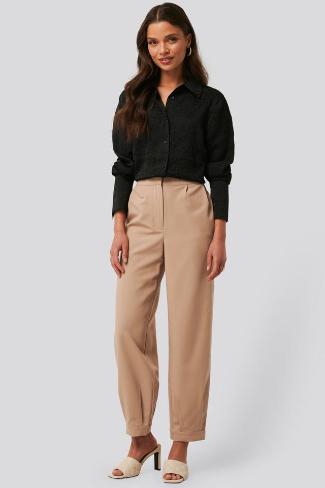 Darted Suit Pants Beige