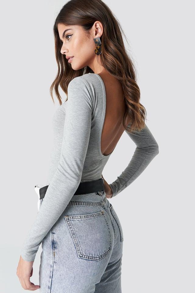 Deep Back Body Grey Melange