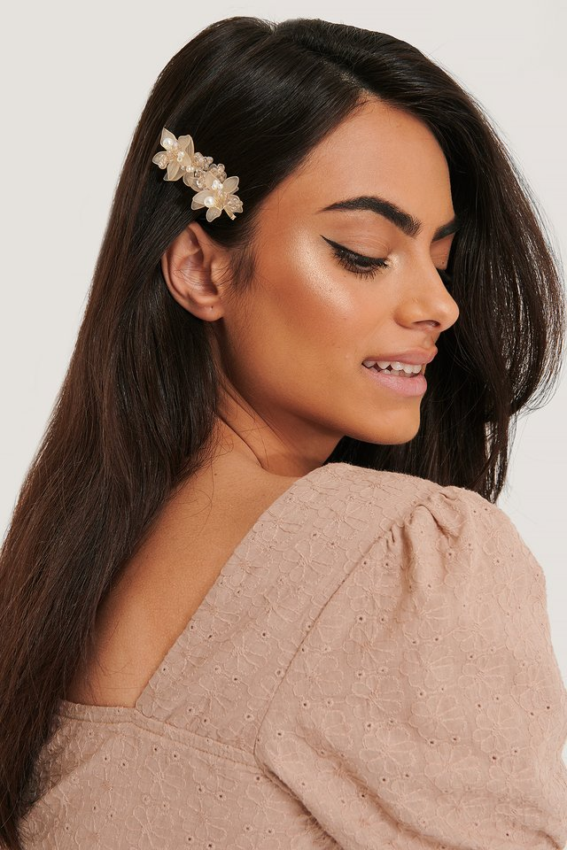 Delicate Flower Hairpin Dusty Pink
