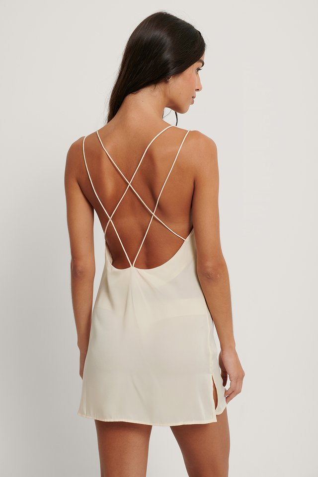 Delicate Thin Strap Nightdress Offwhite