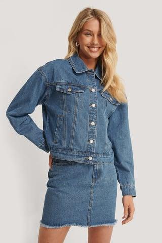 Mid Blue Jeansjacke