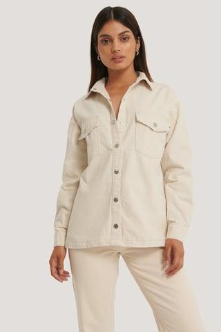 Offwhite Økologisk Denimskjorte