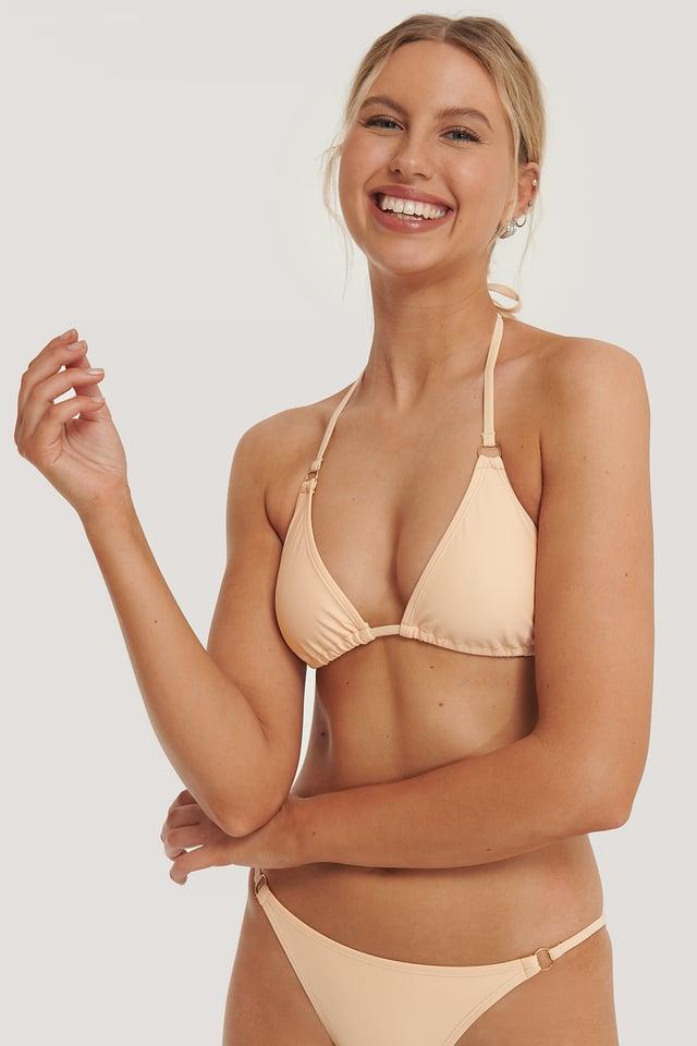 Detail Triangle Bikini Top Apricot