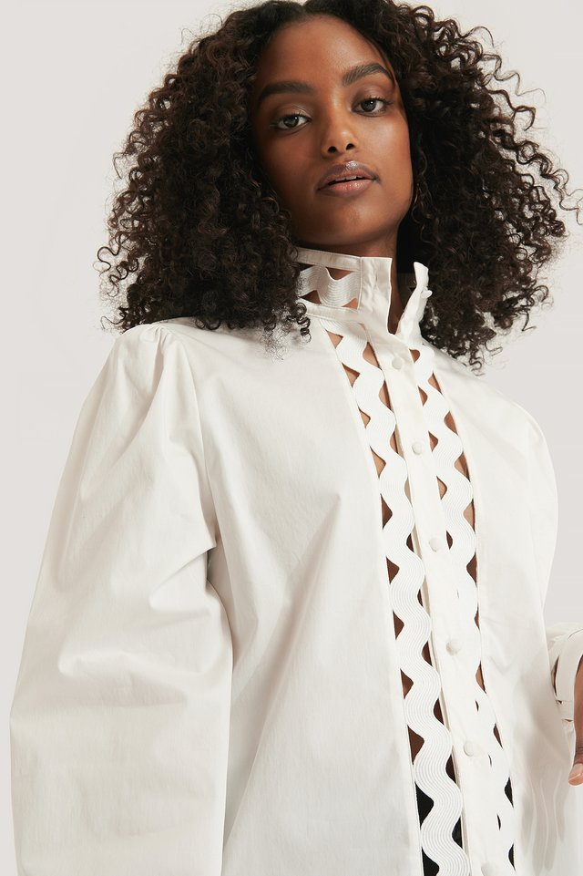 White Detailed Shirt