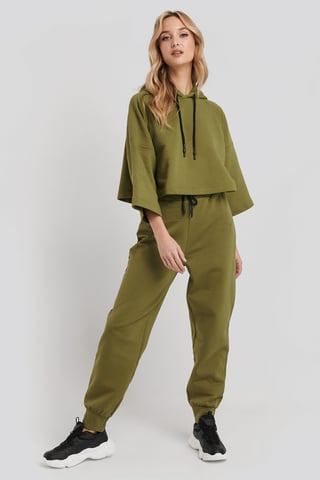 Green Dipped End Drawcord Joggers
