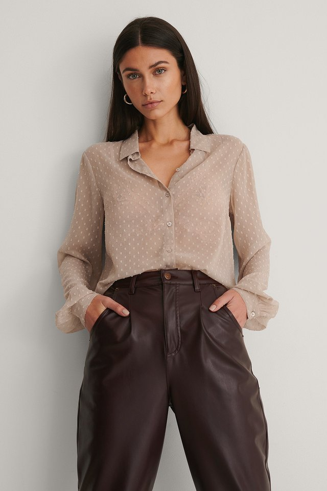 Light Taupe Bluse