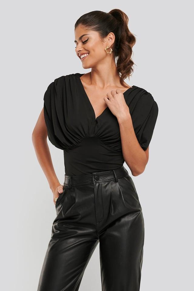 Black Dolman Sleeve Top
