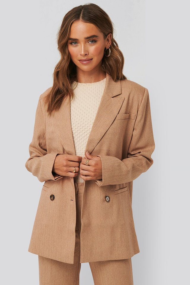 Double-Breasted Blazer NA-KD Classic