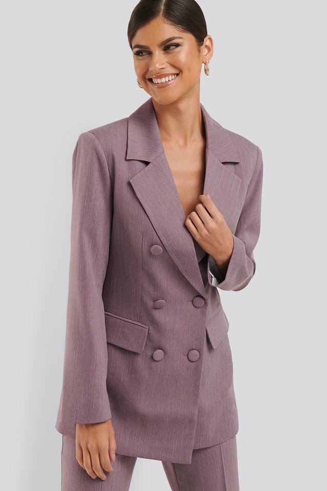 Lilac Double Breasted Blazer