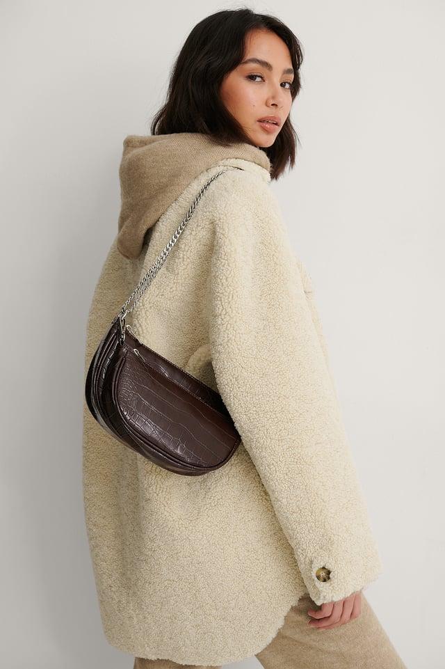 Brown Doubled Shoulder Bag