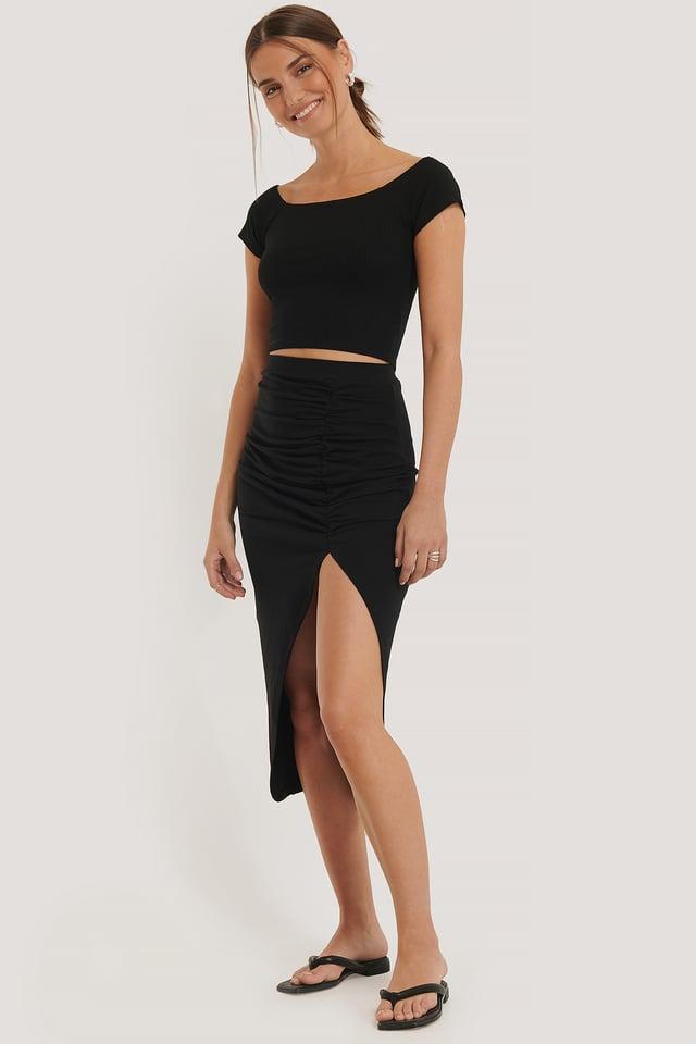 Draped Skirt Black