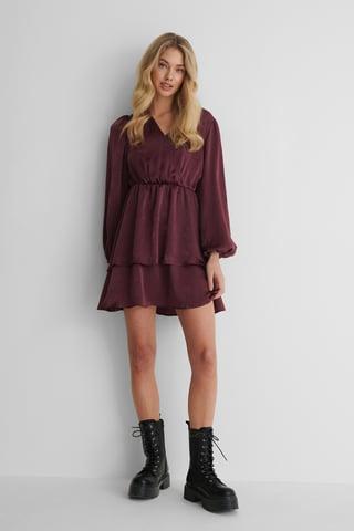 Fig Drapey V-Neck Dress