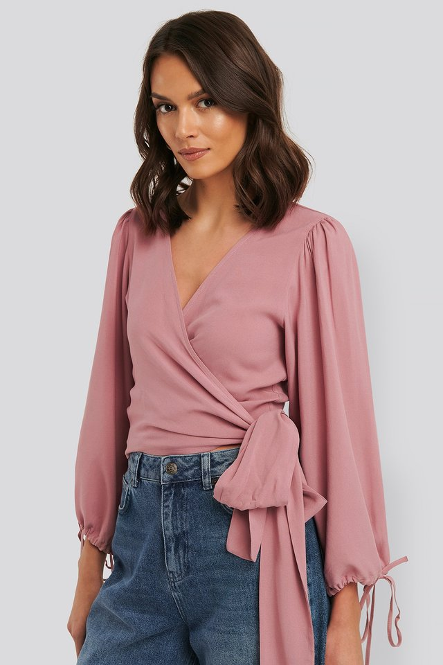 Wickelbluse Dusty Rose