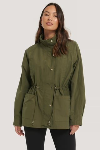 Green Drawstring Jacket