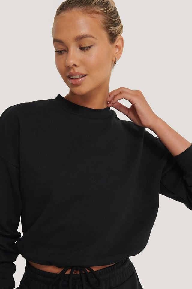 Ekologiczna Bluza Ze Sznurowaniem Black