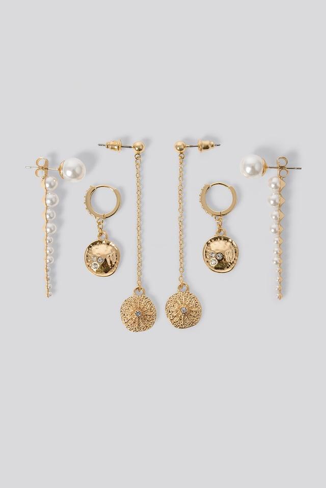Dropping Pearl Earrings White