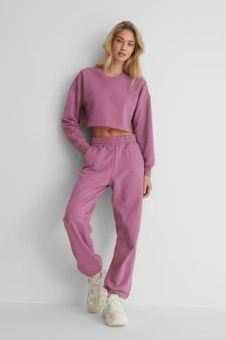 Purple Ekologiczne Spodnie Dresowe