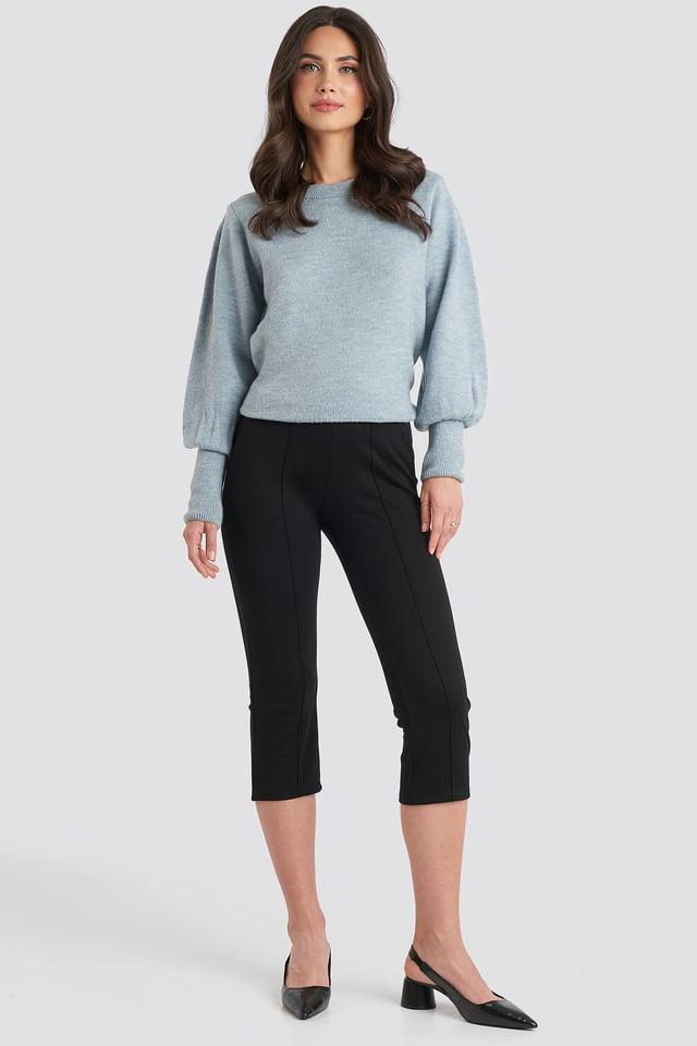 Deep Black Spodnie Elastyczne
