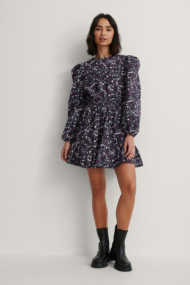 Hemdkleid Mit Elastischer Taille Und Langen Ärmeln Violet Tulip