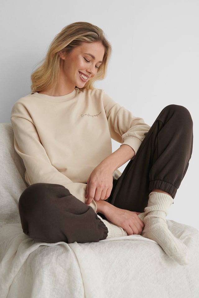 Beige Organisch Sweater