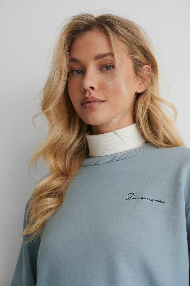 Økologisk Sweatshirt Dusty Blue