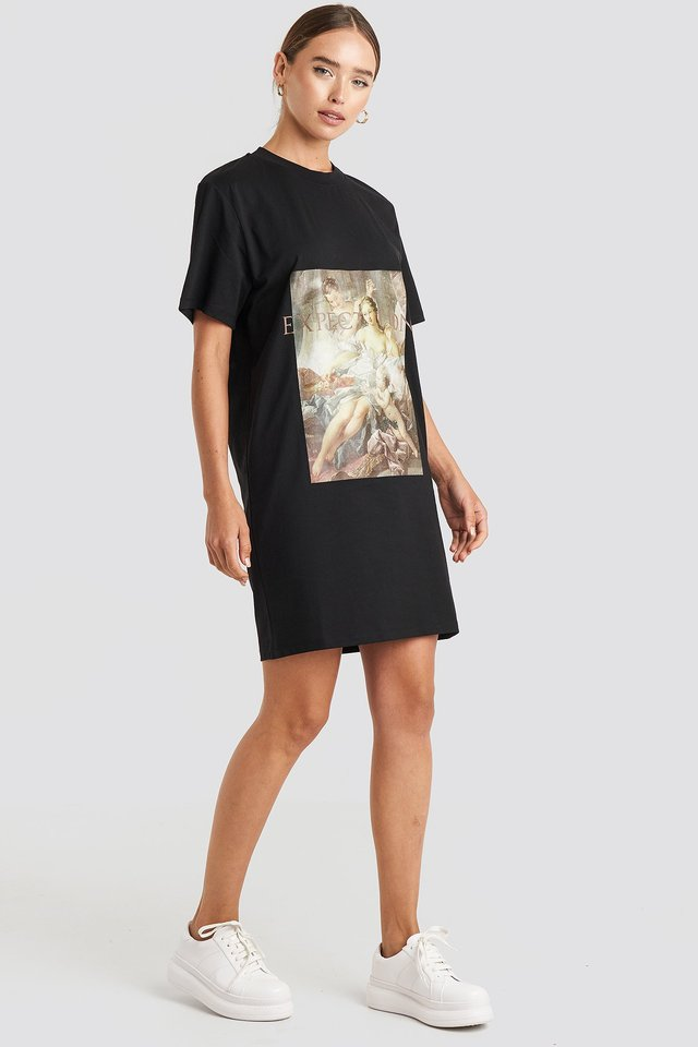 Expectation T-shirt Dress Black