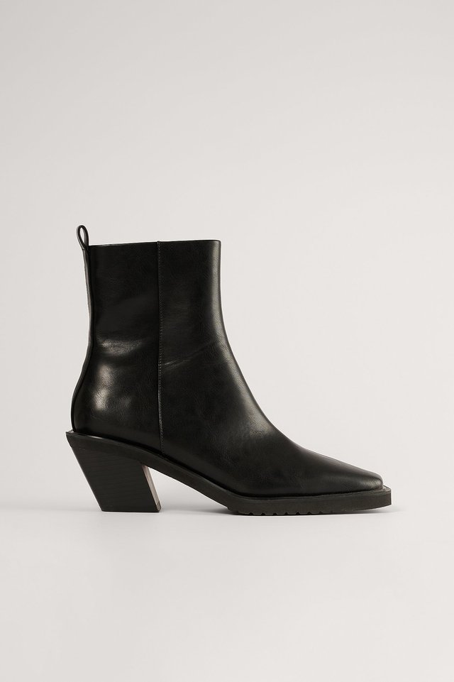 Black Extended Welt Western Boots