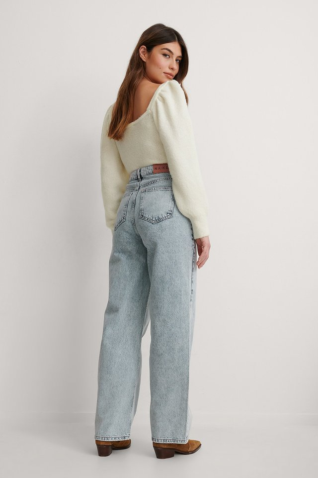 Acid Blue Organic Extra Wide Leg Denim