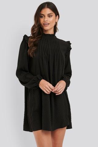 Black Szeroka Sukienka