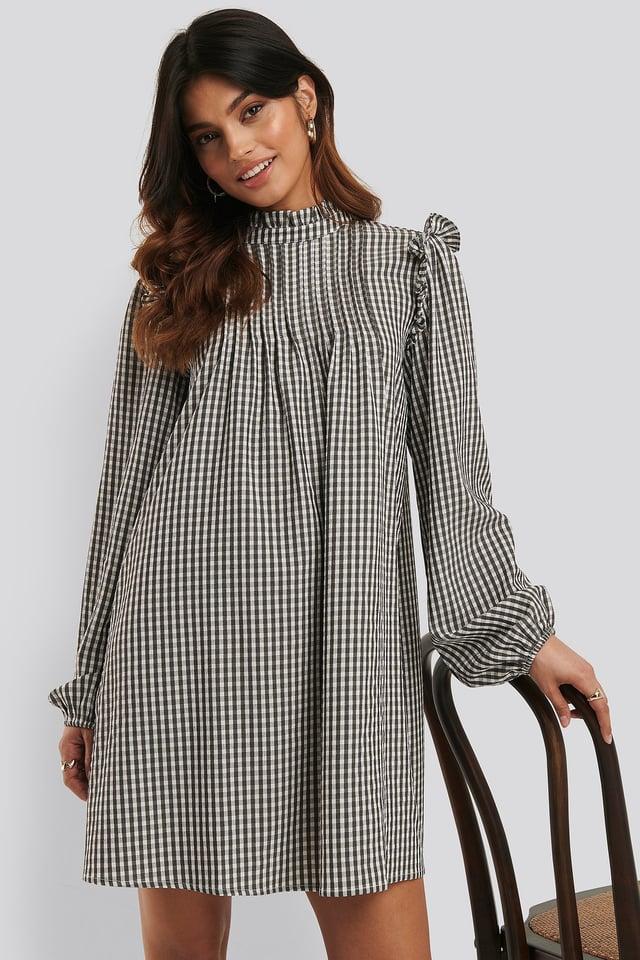 Flottes Kleid Black/White