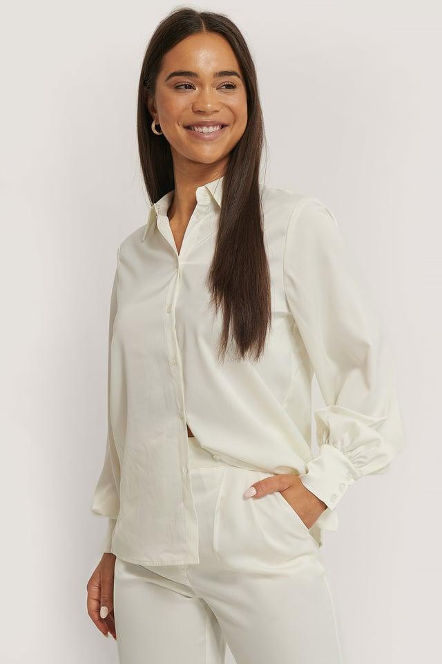Skjorta Med Ballongärm White
