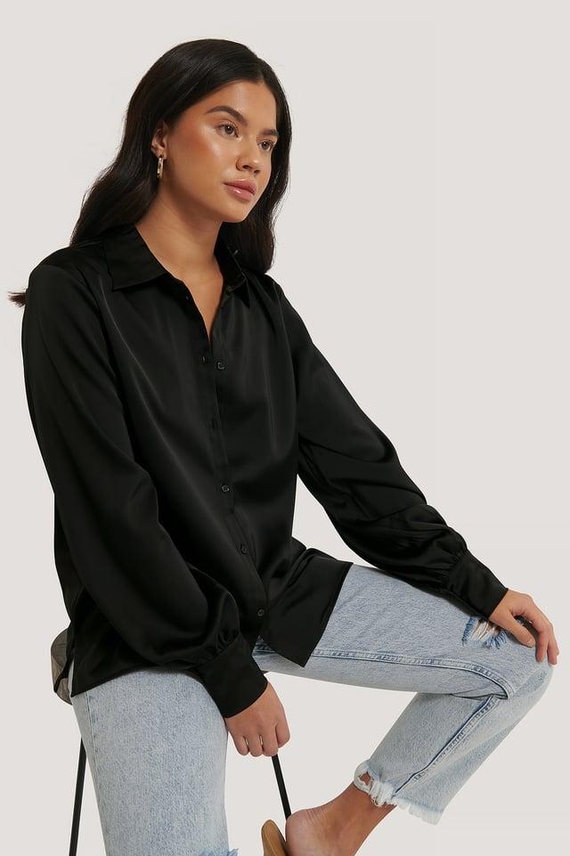 Skjorta Med Ballongärm Black