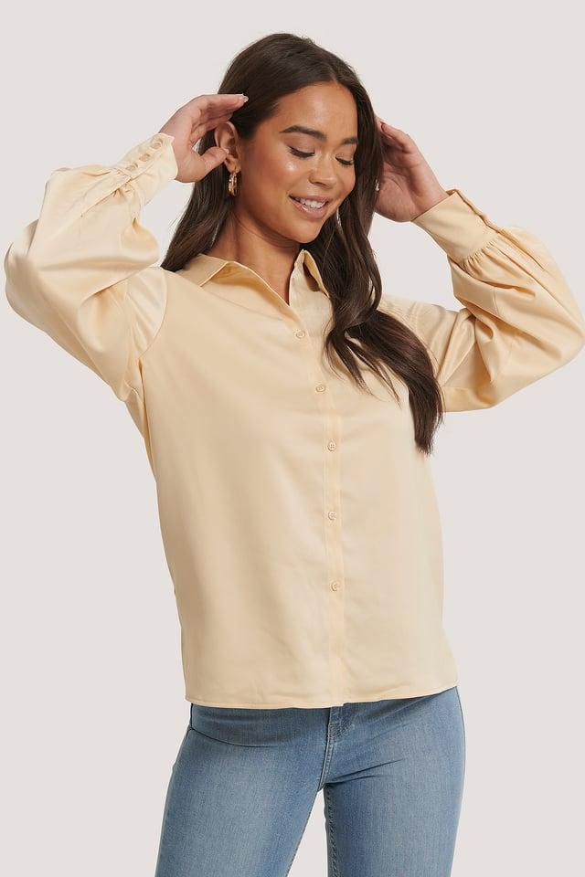 Flowy Oversized Shirt Cream