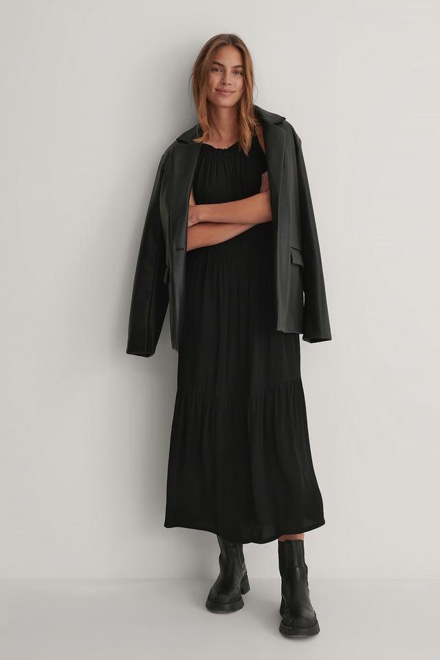 Flowy Sleeveless Dress Black