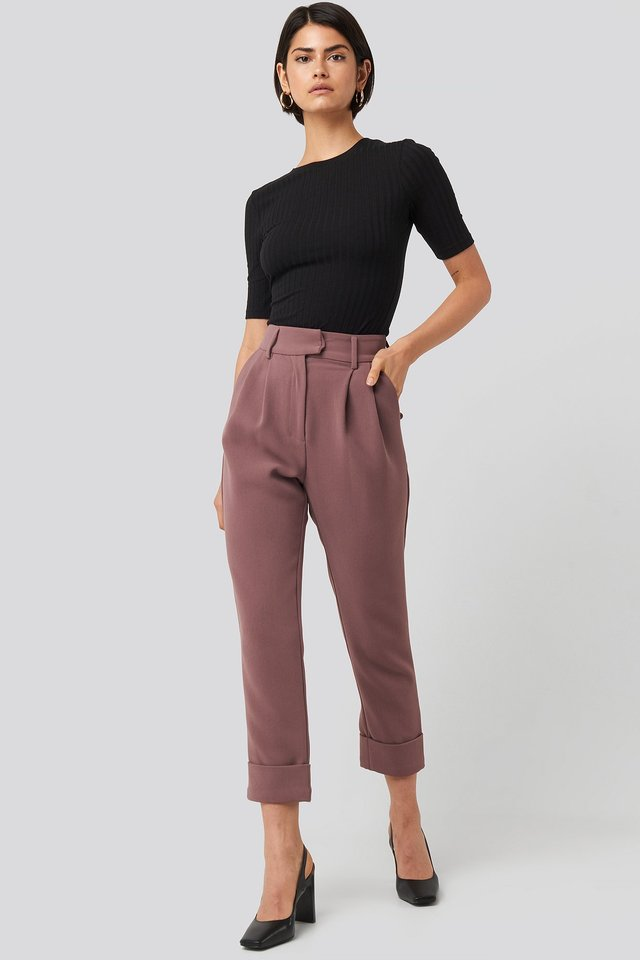 Folded Cigarette Suit Pants NA-KD Classic