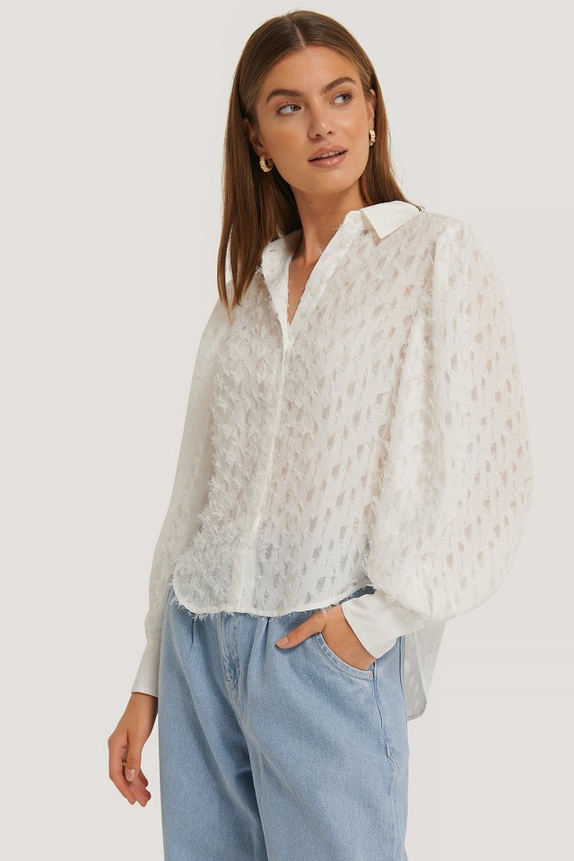 Fringe Blouse White