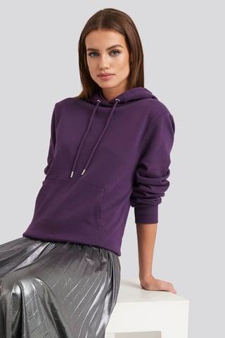 Purple Front Pocket Hoodie