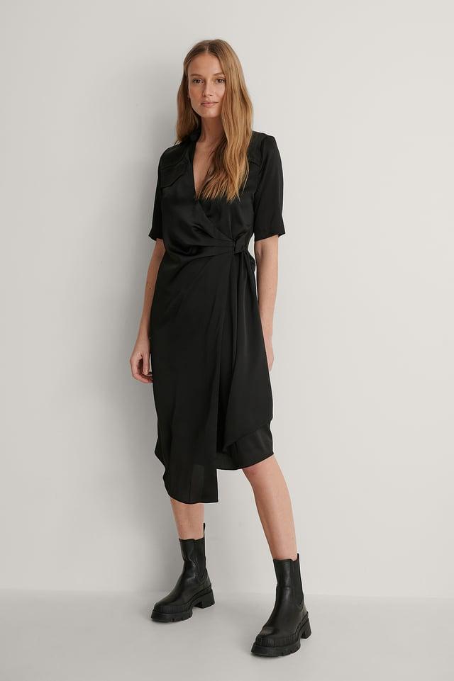 Black Skjortklänning