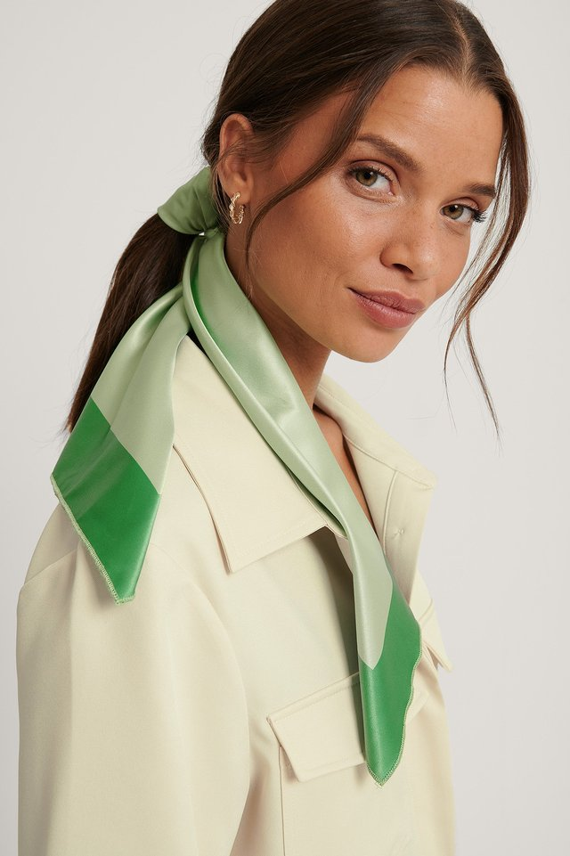 Satin Scarf Lime Light
