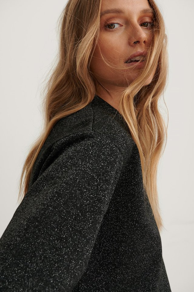Glitter Sweater Black