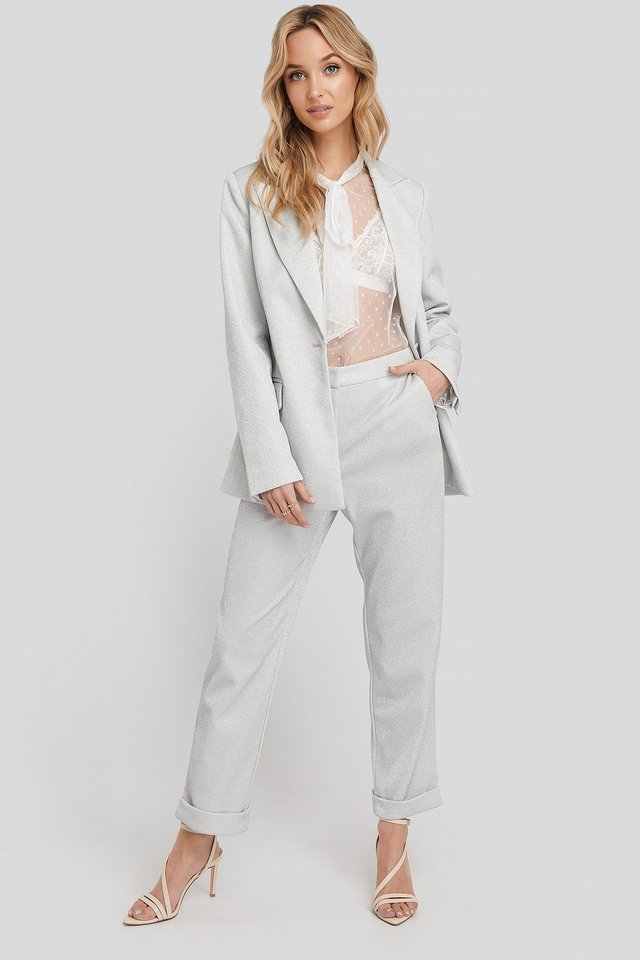 Glittery Pants Silver