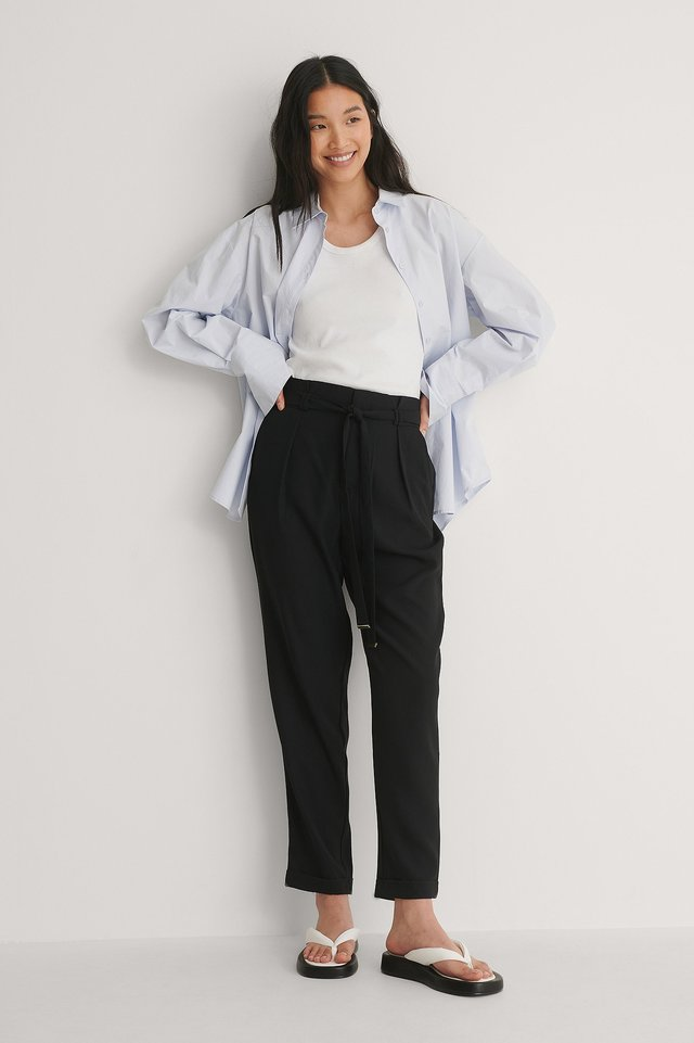 Black Gold Detail Pants