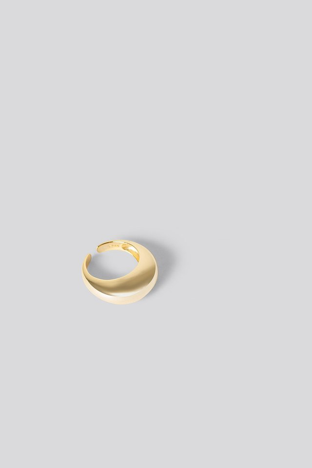 Gold Plated Chunky Ring Gold