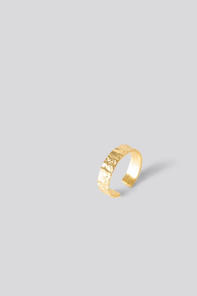 Gold Plated Structured Ring Gold