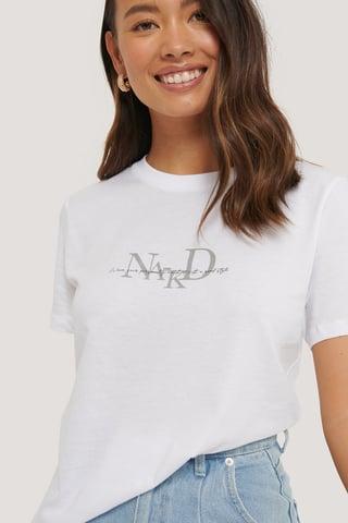 White T-Shirt Met Logo