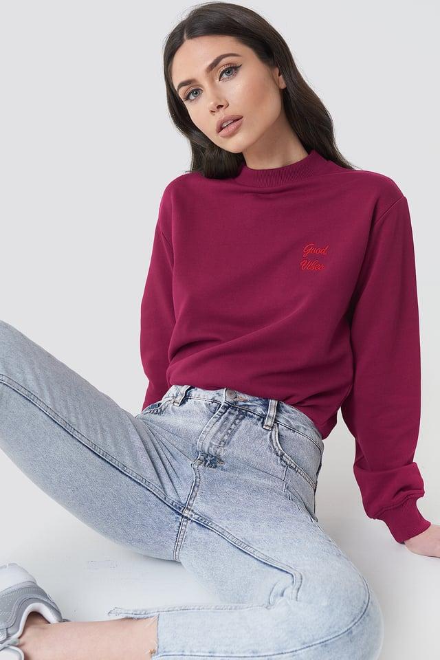 Good Vibes Sweatshirt Burgundy