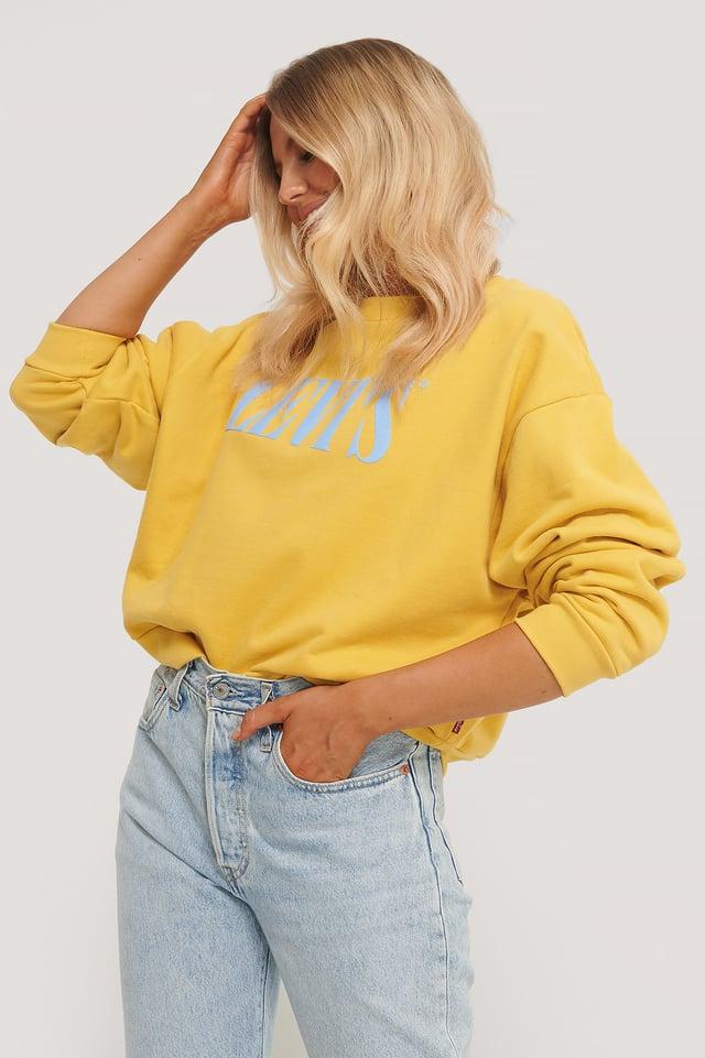 Graphic Diana Sweater Yellow