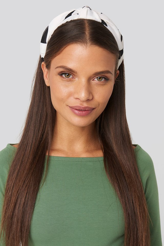 Offwhite Graphic Print Hair Circlet (029)